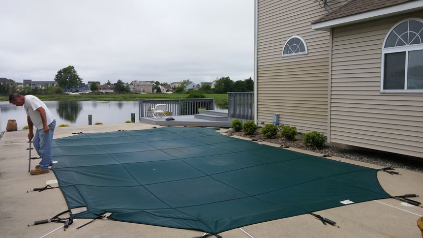 Removing Pool Cover